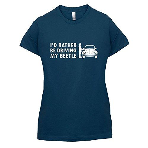 Ich würde lieber meinen Beetle fahren - Damen T-Shirt - 14 Farben Navy