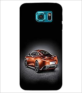 PrintDhaba Car D-2439 Back Case Cover for SAMSUNG GALAXY S6 (Multi-Coloured)