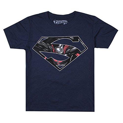 hirt Superman Icon, Blue (Navy Navy), 7-8 Jahre (Dc Comics Für Kinder)