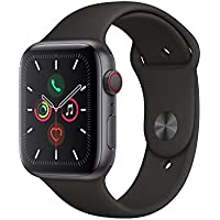 Apple Watch Series 5 (GPS + Cellular, 44mm) - Space Grey Aluminium Case with Black Sport Band
