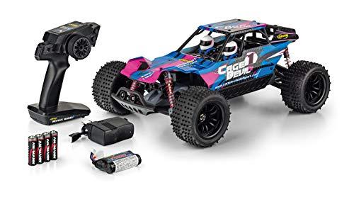 CARSON 500404141 - 1:10 Cage Devil FE 2.4GHz 100% RTR, Ferngesteuertes Auto, RC Fahrzeug,inkl. Batterien und Fernsteuerung, Fahrzeit bis zu 25 Minuten, LED-Beleuchtung vorne und hinten, voll gefedert