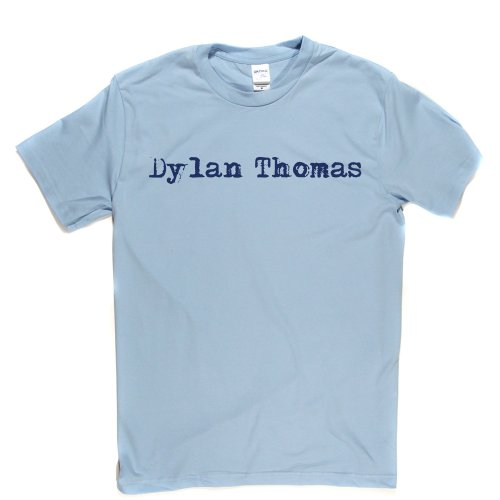 Dylan Thomas Welsh Poet & Writer T-shirt Himmelblau