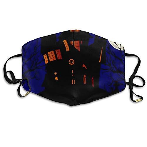 Girls Mund Maske Anti-Dust Respirator Gift Happy Halloween On The Night Moon and Castle.jpg