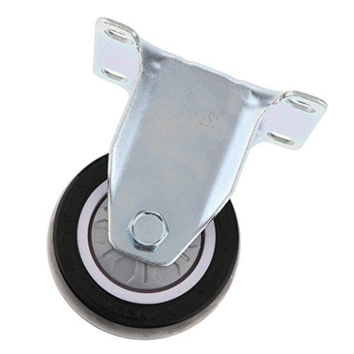 MagiDeal 2,5Zoll Lenkrolle Swivel Laufrolle Caster Rad Möbelrolle Ersatz Stahl Schwenkplatte Räder Kugel-Lenkrolle - Als Bild 3 Zoll (Stahl-kugel Caster)