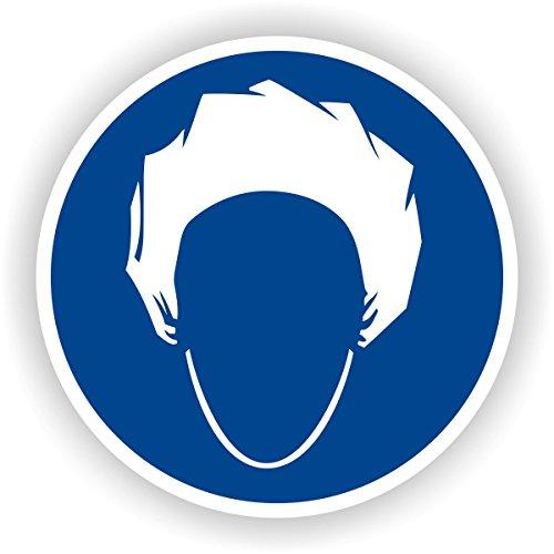 Kopfhaube tragen / Gebotszeichen / GE-31 / Sicherheitszeichen / Piktogramme / DIN EN ISO 7010 (20cm)