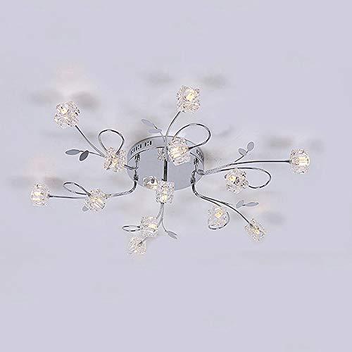 CUICANH Moderner Glas Deckenleuchte,Einfache Kreativ LED Eisen Deckenlampe Für Wohnzimmer Schlafzimmer Restaurant Indoor-leuchte-B 75x18cm(30x7inch)