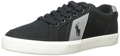 Polo Ralph Lauren Hugh-sk-vlc Fashion Sneaker Polo Black/Museum Grey