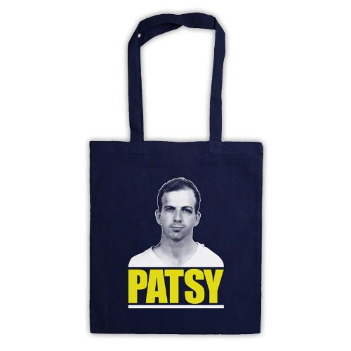 Lee Harvey Oswald Patsy Tote Bag Blu navy