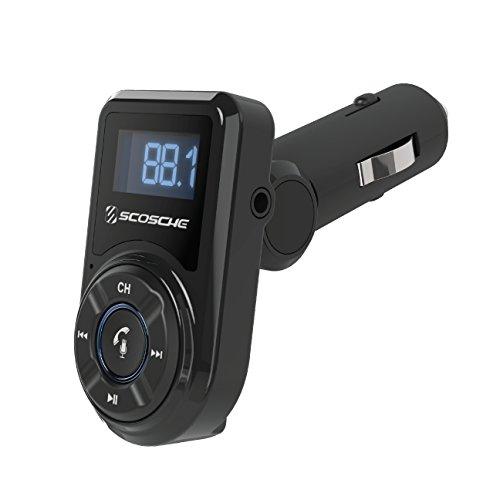 Scosche BTFM3 Bluetooth FM Transmitter mit USB-Anschluss und Fernbedienung für Mobile Geräte Smartphone Auto LKW KFZ Scosche Usb
