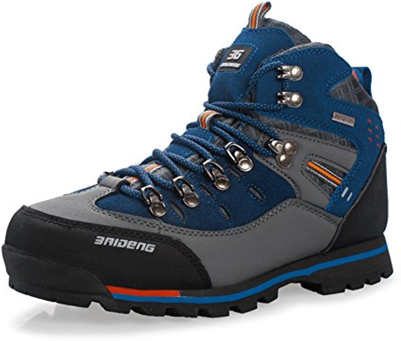 GOMNEAR Wandern Schuhe Herren Big Size Leder Lace Ups Trail Camping Sneaker fuumlr Outdoor Walking Reisen von COMNEAR