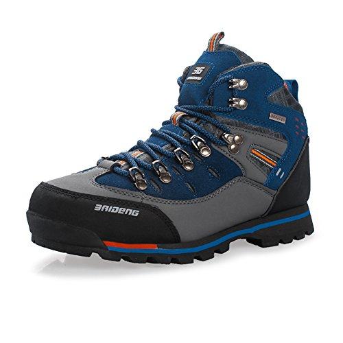GOMNEAR Wandern Schuhe Herren Big Size Leder Lace-Ups Trail Camping Sneaker für Outdoor Walking Reisen von COMNEAR