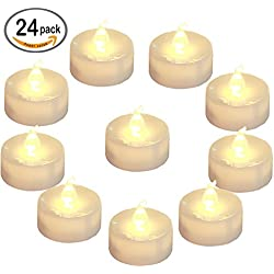 24 velas con batería