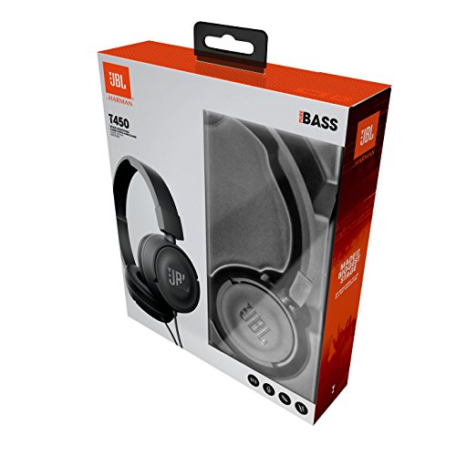 JBL T450 On-Ear Kopfhörer Ohraufliegend Leicht mit 1-Tasten-Fernbedienung und Mikrofon Kompatibel mit Apple und Android Geräten – Schwarz - 9