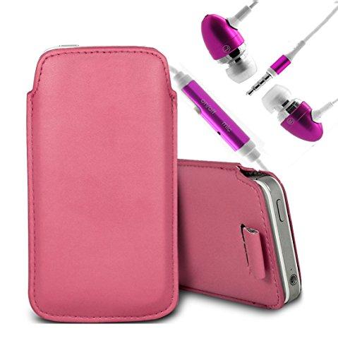 Brun/Brown - Xiaomi Mi 2A Housse deuxième peau et étui de protection en cuir PU de qualité supérieure à cordon avec stylet tactile par Gadget Giant® Rose Baby & Ear Phone