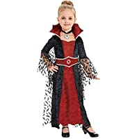 Lingway Toys Girls Queen of Vampiress Costume Halloween Fancy Dress with All Included Size M8-10 Red/Black