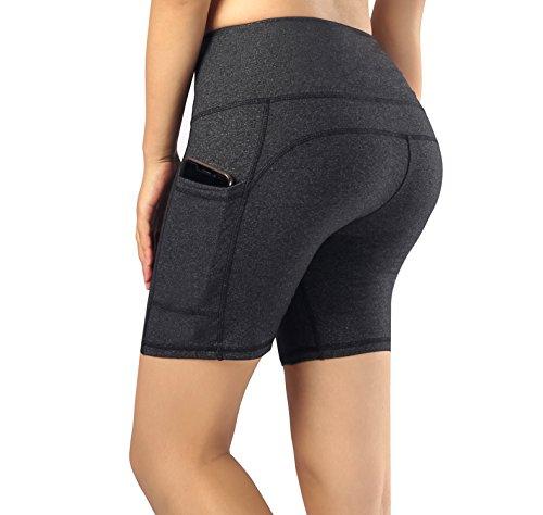 Munvot Damen Radlerhose Kurze Leggings Yogahose Sporthose Shorts mit Taschen für Fitness (CA01-09)