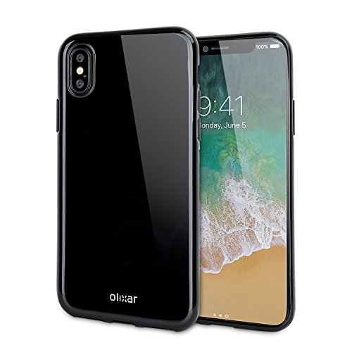 Olixar iPhone X Coque en Gel Flexishield – Chargement sans Fil Compatible