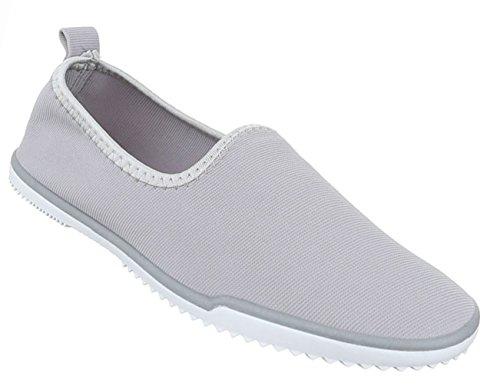 Damen Schuhe Halbschuhe Slipper Freizeitschuhe Rosa Grau