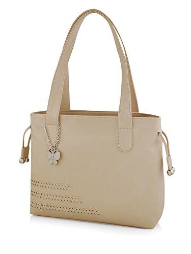 Butterflies Women\'s Handbag (Cream) (BNS 0608CRM)