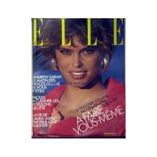 ELLE [No 2117] du 04/08/1986 - ANDREW-SARAH - CUISINER LE POISSON - LAURA ASHLEY PAR PAUL-LOUP SULITZER.