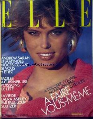 ELLE [No 2117] du 04/08/1986 - ANDREW-SARAH - CUISINER LE POISSON - LAURA ASHLEY PAR PAUL-LOUP SULITZER. par Collectif