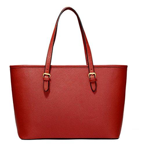 Frauen-Einkaufstasche-Schulter-Beutel-Art Und Weise Elegante Einkaufstasche PU-Leder Damenhandtasche Damenbeutel Brown