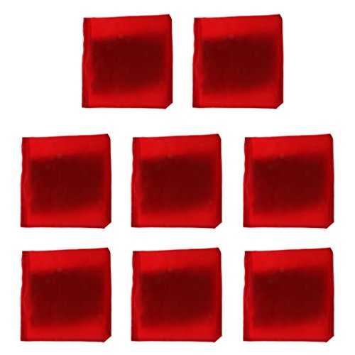 Sharplace 8 Stücke Werfen Mais Loch Spiel Cornhole Bag Sitzsack Mit Leinwand Abdeckung Und PVC Kunststoff Pellets Innen - rot, 10 x 10 cm (Mais Werfen Taschen)