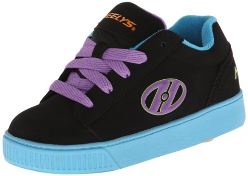 Heelys Straight Up Skate Shoe (Little Kid/Big Kid) (8 Women's M, Black/Royal Blue) (Royal Blue Bekleidung Kids)
