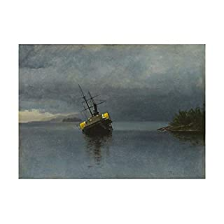 Spiffing Prints Albert Bierstadt - Wreck of the Ancon - Extra Large - Archival Matte - Framed