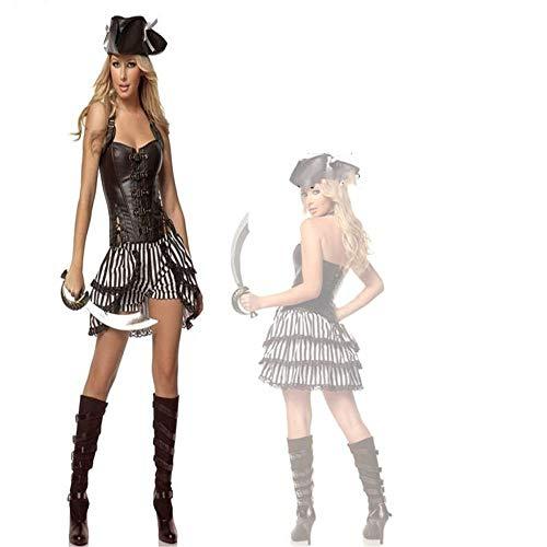 ZGCP Halloween Kostüm Erwachsenen Kostüm Performance Anzug Piraten Charakter Kostüm Erwachsenen Piraten Kostüm - Für Erwachsene Fledermaus Anzug Und Krawatte Kostüm