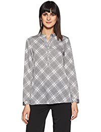 Stylevile Women's Button Down Comfort top with Full Sleeves