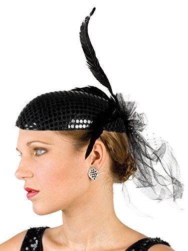 Boland 04136 - Kopfbedeckung Charleston für Erwachsene, Einheitsgröߟe, schwarz