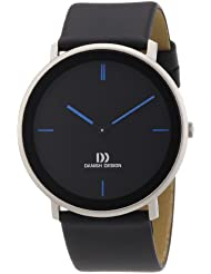 Danish Design - 3314438 - Montre Homme - Quartz Analogique - Bracelet Cuir Noir