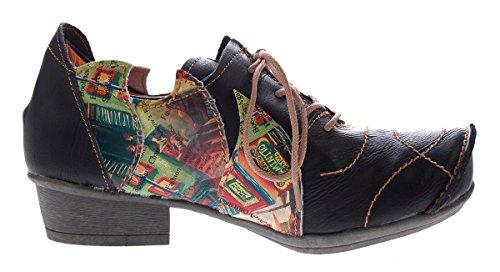 TMA , Chaussures à lacets et coupe classique femme Noir