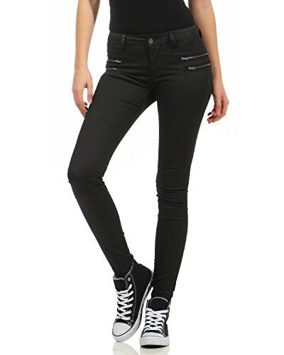 Zarmexx Mujer Pantalones de Cuero sintético Pantalones Vaqueros Panta