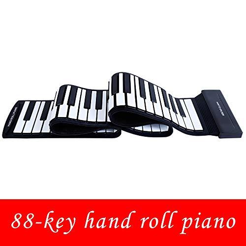GuoYq Faltbares, Flexibles, weiches, digitales Keyboard mit 88 Tasten. USB-Tastatur für elektronische Klaviere. Elastische Einsteigerkinder üben Musikinstrumente (Android-digital-mobiltelefon)