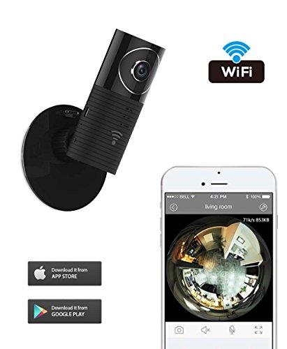 Clever Dog Wifi Wireless sicurezza sorveglianza Fotocamera panoramica 180 ° HD telecamera con audio a due vie, Remote di Vista Monitor Video Motion Detect e funzioni di visione nottu