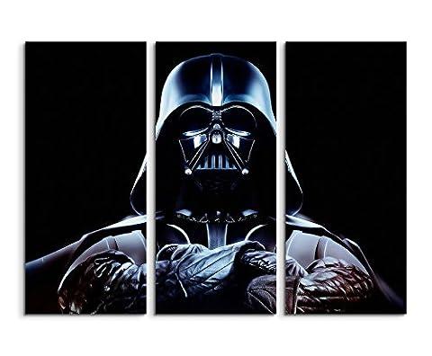 Krieg der Sterne Kino Wandbild 3 teilig 120x90cm (jedes Teil 40x90 cm) schöner Kunstdruck auf echter Leinwand gespannt auf