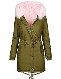Warme Damen Winter Jacke Winterjacke Parka Teddyfell gefüttert Mantel B432 6205edee1a