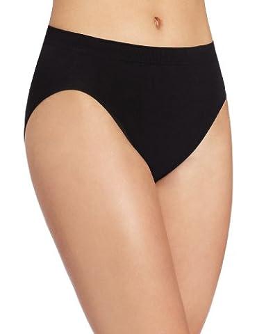 Bali Designs womens Comfort Revolution Seamless High-cut Brief Panty Bikini Underwear  - Black -