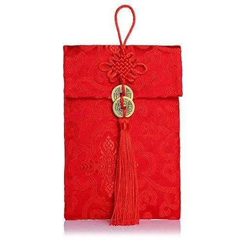 lägen Glück Geld Umschläge Reichtum Rot Brokat Taschen Schmuck ()