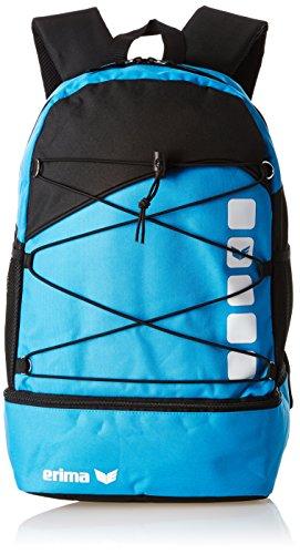 erima Tasche Multifunktionsrucksack mit Bodenfach, Curacao/Schwarz, 45.5 x 35 x 6 cm, 34 Liter, 723574