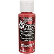 Artdeco DecoArt Glamour Dust - Pintura de purpurina, color rojo