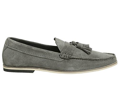 City Outlet Tassel Loafers, Mocassins Homme Suède gris