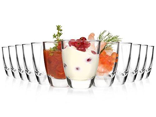 �ser Set 12 teilig | Füllmenge 50 ml | Amuse-Bouche Dipschalen in Premium Qualität | Perfektes Serviergeschirr für Catering, Partys, Picknicks oder feierliche Anlässe (Kleine Vorspeisen-teller)
