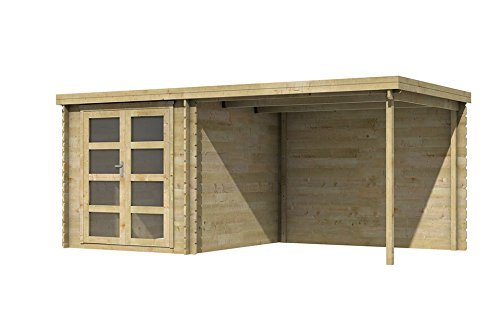 Fonteyn Gartenhaus/Blockhütte Helmond Flachdach 490 x 255 cm Hochdruck-Imprägniert