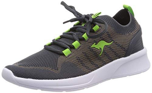 KangaROOS Unisex-Erwachsene KangaFOAM Adult Sock Sneaker, Grau (Taupe/Lime 2095), 38 EU
