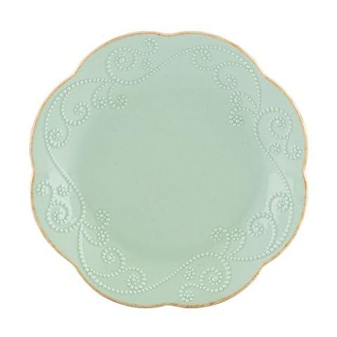 Lenox French Perle Dessert Plates, Ice Blue, Set of