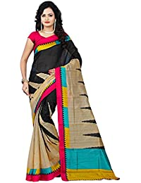 Vaansi Creation Women's Cotton Silk Saree With Blouse Piece (Vc-Lichi02, Multicolor, Free Size)