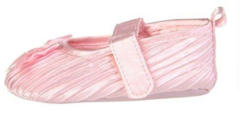 Baby Girl scarpe morbida battesimo partito Passeggino Velcro pompe Bianco Rosa Nero 0–12 Light Pink
